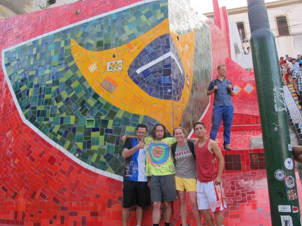 CAC coaches being tourists in Santa Theresa (Rio de Janiero)