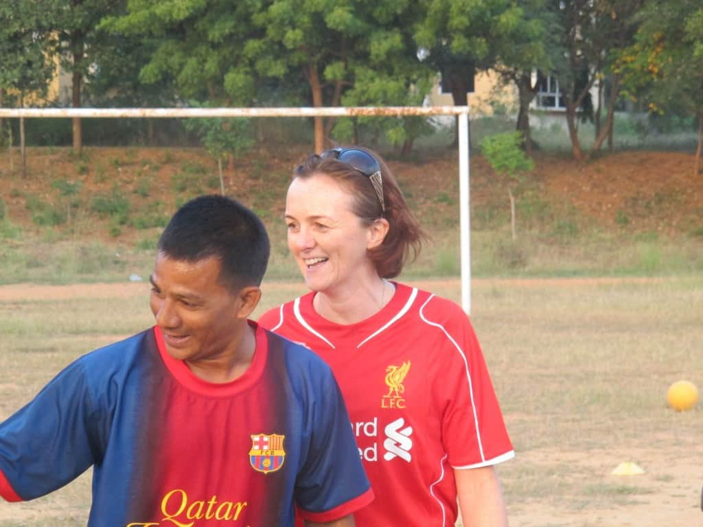 Gail Buswell enjoys her first week On-Field with Coaches Across Continents