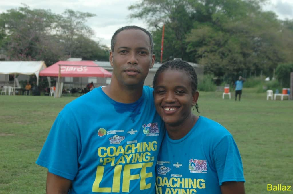 Tashana with Ballaz Founder and JFF Grassroots coordinator Andre Virtue