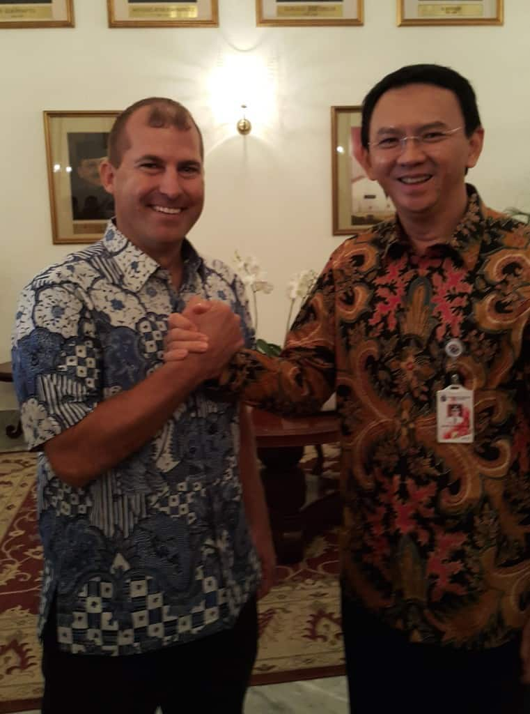 Brian and Jakarta Governor